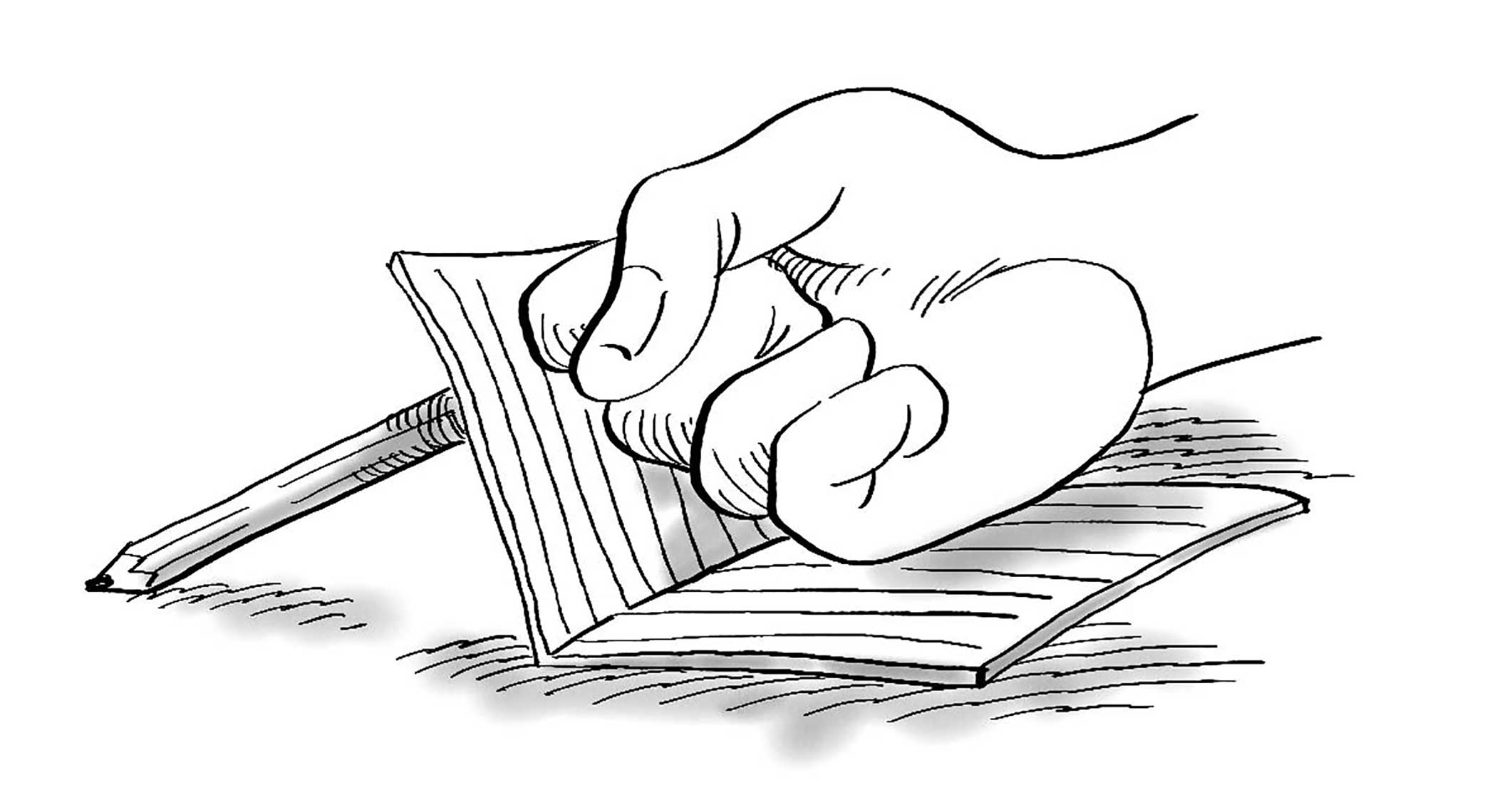 2108x1140 Hand With Pencil Process Infographic Drawings