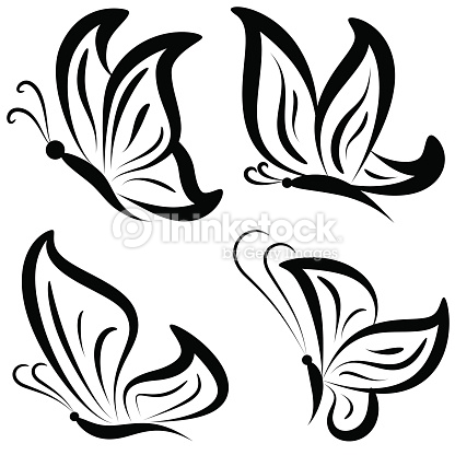 416x416 Butterfly And Pencil Clipart Collection