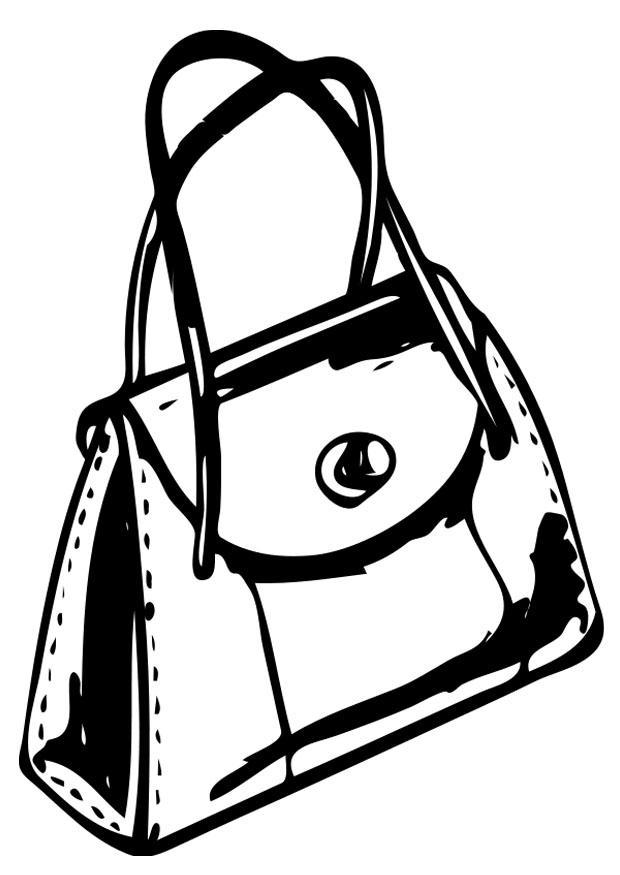 620x875 Coloring Page Handbag
