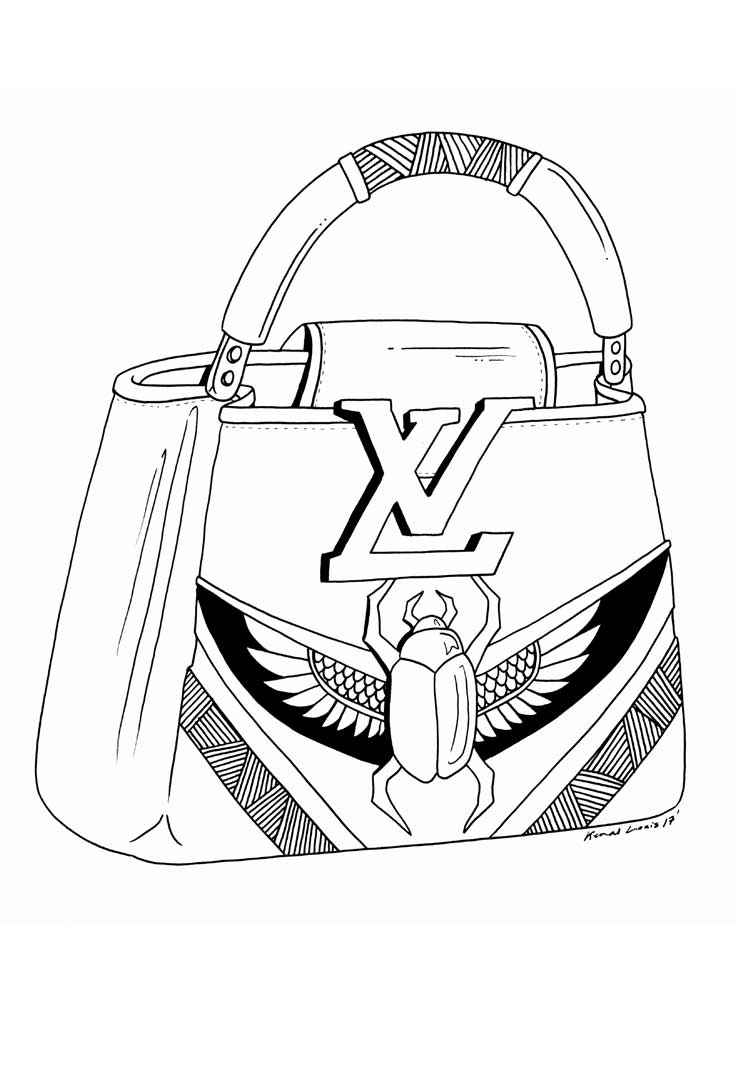 735x1080 Handbag Design Drawings