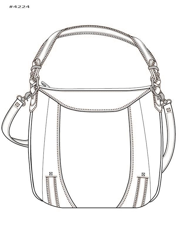 613x788 Handbag Illustration By Kim Honeycutt