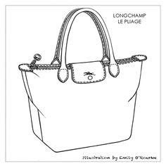 236x236 Handbag Illustration With Flats By Eugene Czarnecki