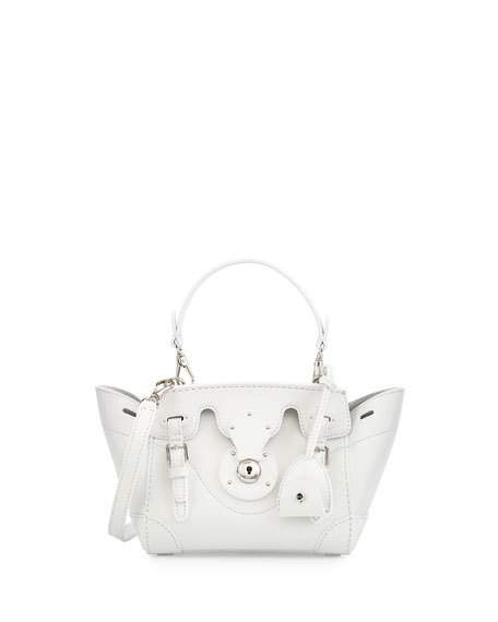456x570 Ralph Lauren Soft Ricky 18 Crossbody Bag, White Neiman Marcus