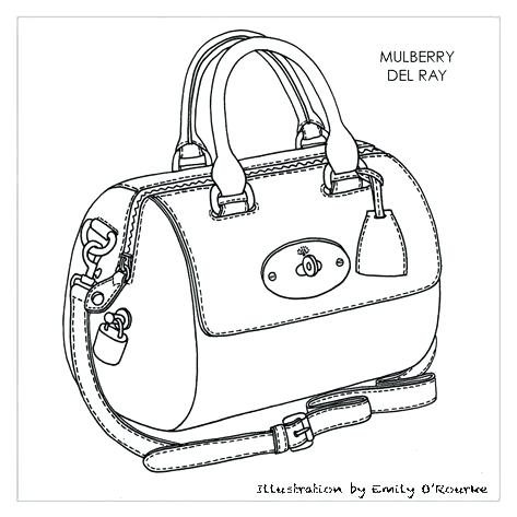 473x473 Travel Sketch Bag Mulberry Ray Bag Designer Handbag Illustration