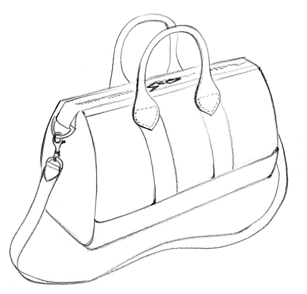 1000x959 Fashion Designers Drawings Of Handbags