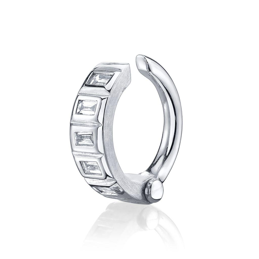 1024x1024 18k White Gold Baguette Diamond Handcuff Earcuffltbr Gt 09cts