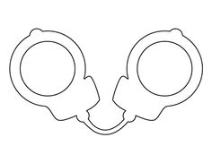 236x182 Handcuff Pattern. Use The Printable Outline For Crafts, Creating