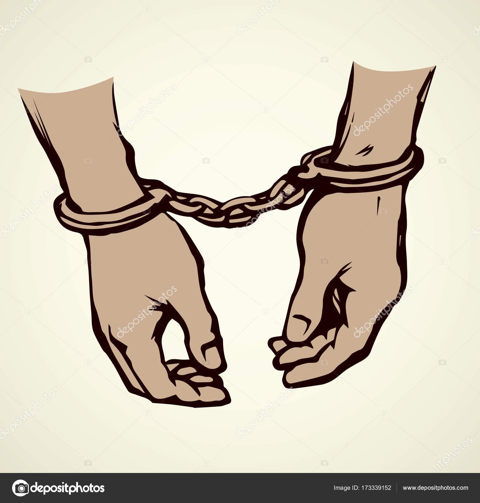1600x1676 Handcuffs. Vector Drawing Stock Vector Marinka