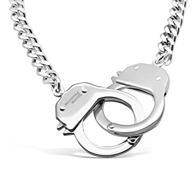 395x395 Handcuff Necklace In Stainless Steel By Silver Phantom