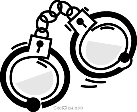 480x393 Handcuffs And Leg Irons Royalty Free Vector Clip Art Illustration