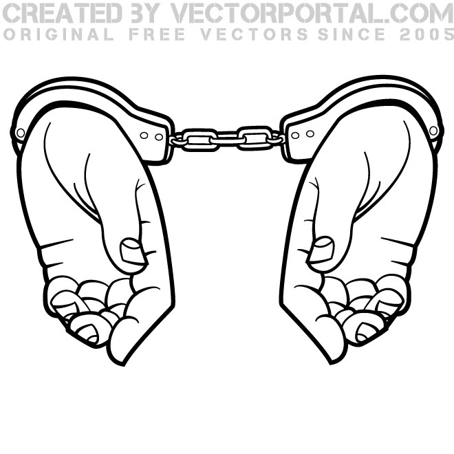 660x660 Hands In Handcuffs Graphics Free Vector 123Freevectors
