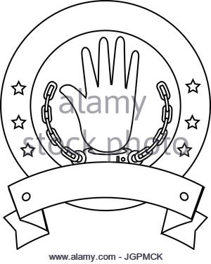 300x375 Hand With Handcuffs Icon Stock Vector Art Amp Illustration, Vector