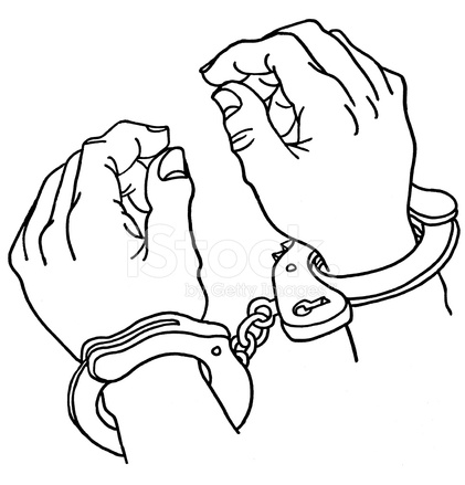 421x439 Close Up Of Handcuffs Stock Vector