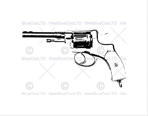 500x391 Painting Drawing Gun Pistol Revolver Trigger Black