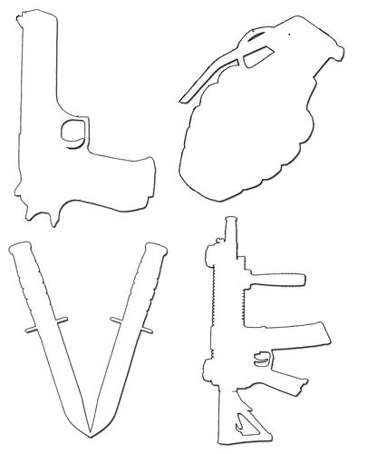 405x500 Love Ar15 Ak47 M16 Assault Rifle 44 Magnum Grenade Handguns