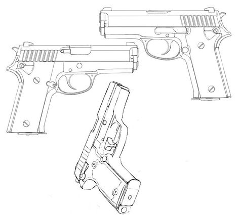 474x429 Revolver Character Design References, Design Reference And Weapons