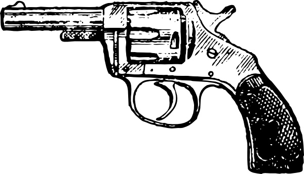 600x344 Revolver Clip Art Free Vector In Open Office Drawing Svg ( Svg
