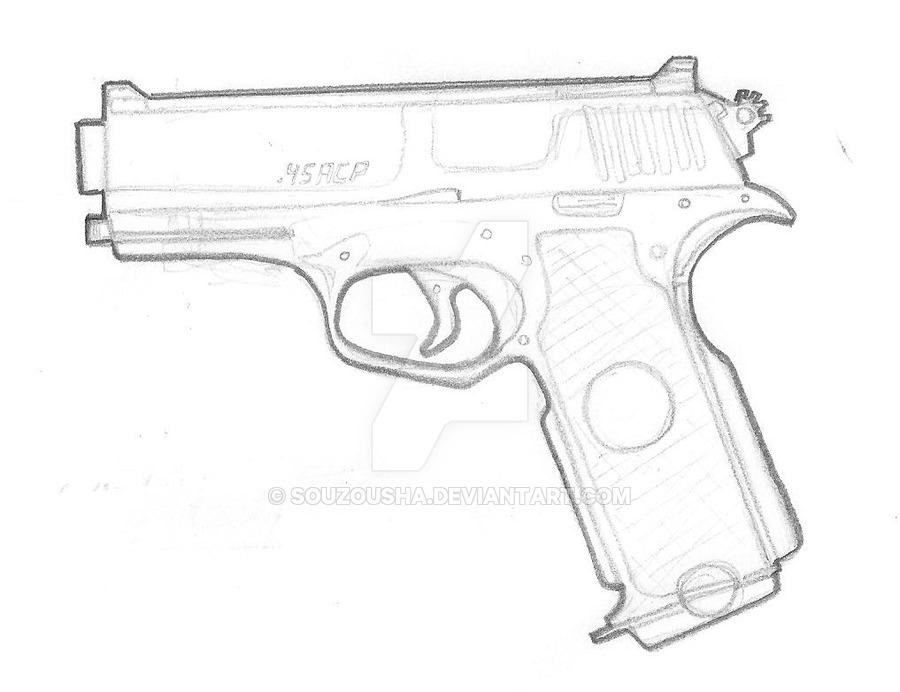 900x692 Bm 8s 45acp Pistol By Souzousha