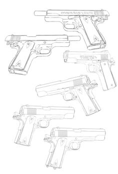 236x349 Easy Gun Drawings Picture To Draw Drawing Pictures