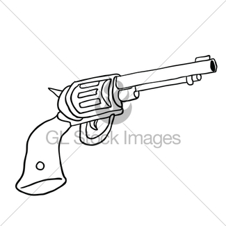 325x325 Hand Gun It Is Black Icon Gl Stock Images