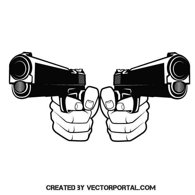 660x660 Handguns Vector Graphics