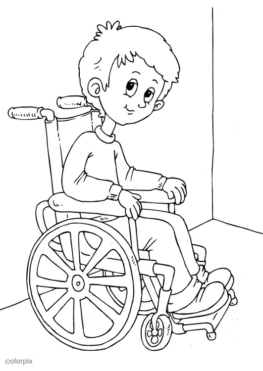 531x750 Coloring Page In A Wheelchair