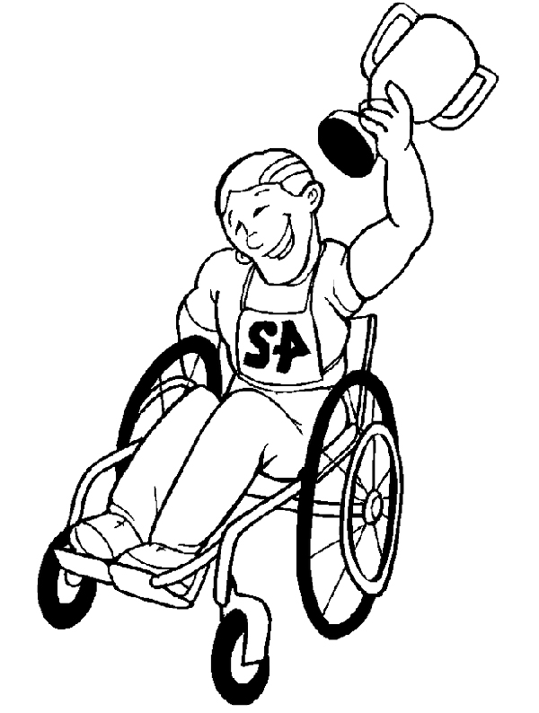600x794 Disabilities Who Raced The Disabled Children Coloring Pages