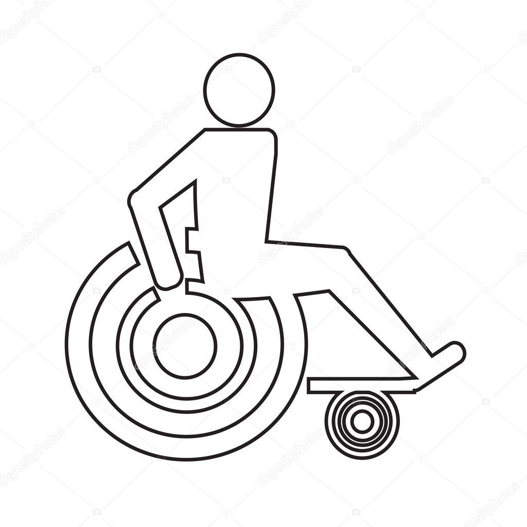 1024x1024 Disabled Handicap Icon Illustration Design Stock Vector Porjai