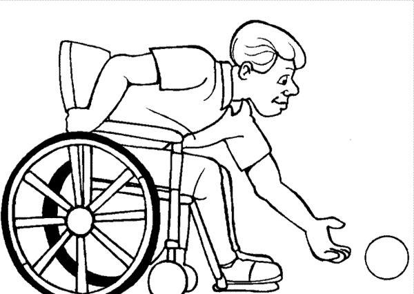 600x426 Athletes Disabilities Coloring Page Athletes Disabilities