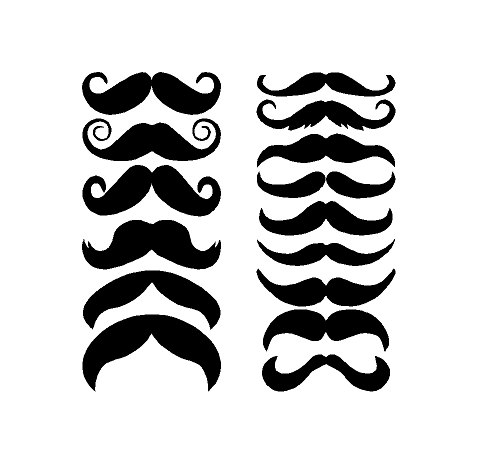 497x468 15 Custom Mustache Decals Movember Decals By Itsvinylyall No