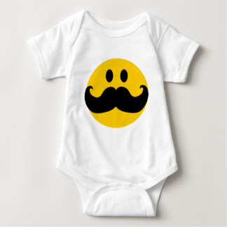 324x324 Handlebar Moustache Baby Clothes, Handlebar Moustache Baby