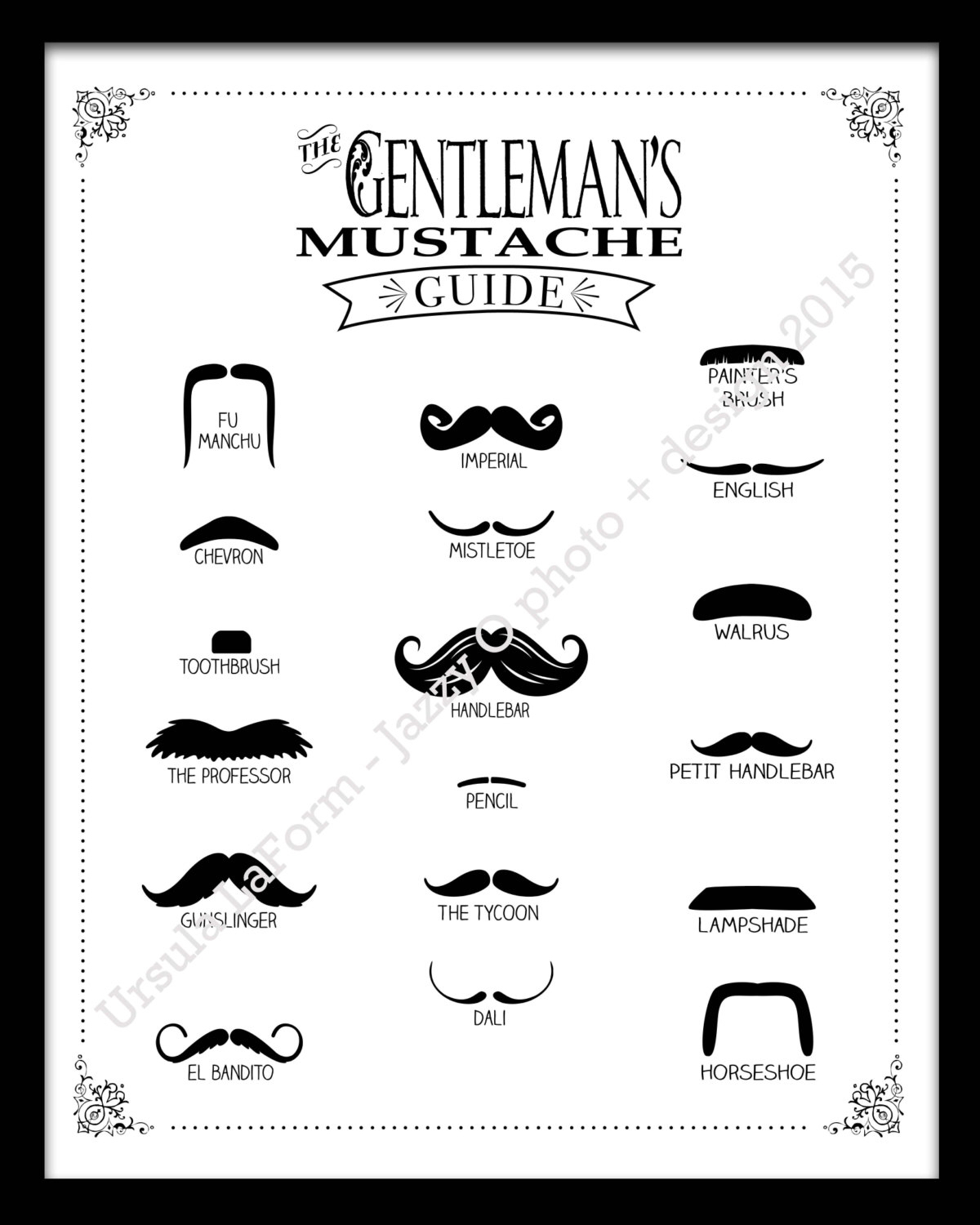 1200x1500 The Gentlemen's Mustache Guide Amp Name That