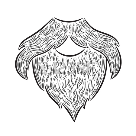 450x450 Fun Hand Drawn Hipster Typography On Handlebar Mustache Design