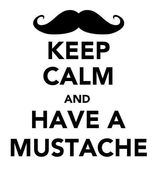 Handlebar Mustache Drawing