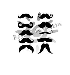 236x254 Hipster Moustache Vector Pack