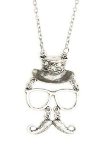 213x300 Invisible Man Handlebar Mustache Necklace Hipster Glasses Nh69