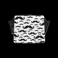 250x250 Black Handlebar Mustache Moustache Pattern Satchel Bag (Model