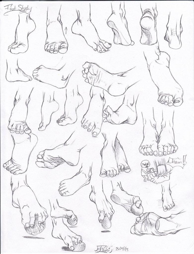 782x1021 Foot Study By Tsuki Nii
