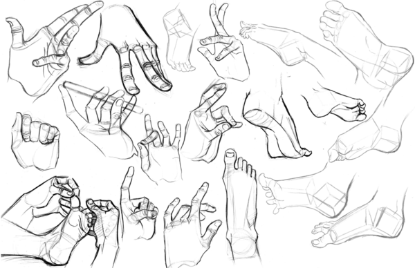 600x388 Hands And Feet By Rekushi