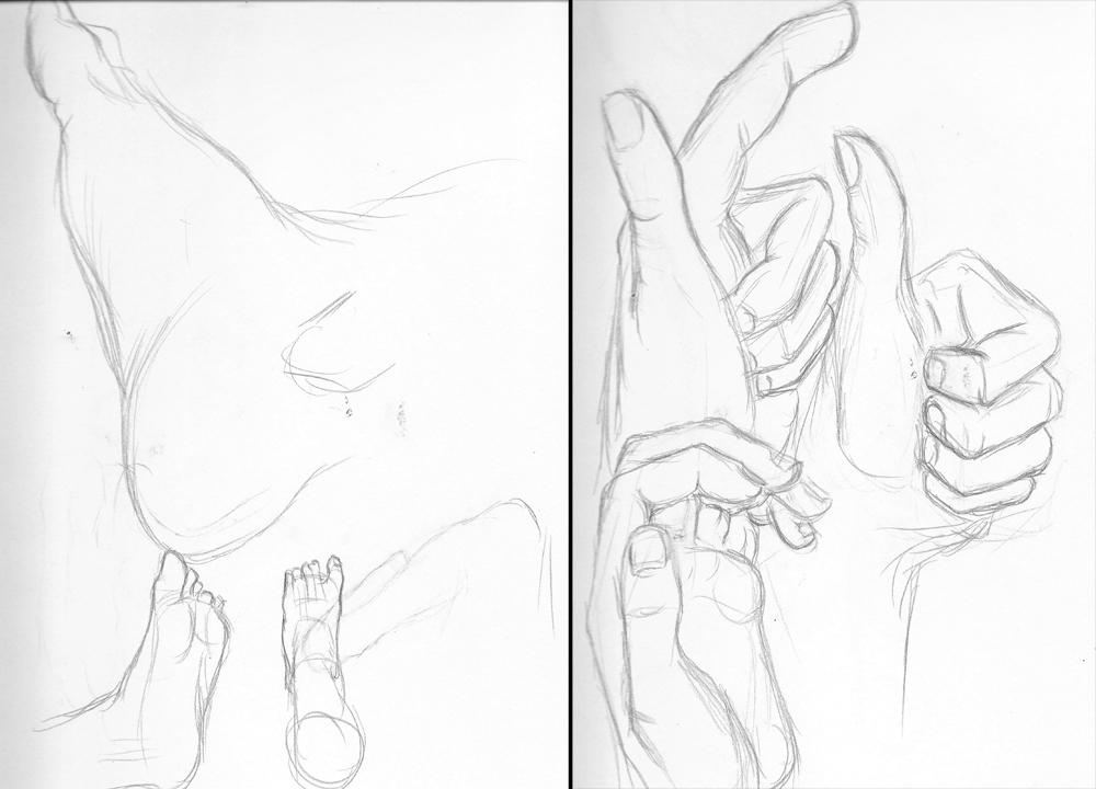 1000x720 Sb03 Hands Amp Feet Drawing Alternative Materials