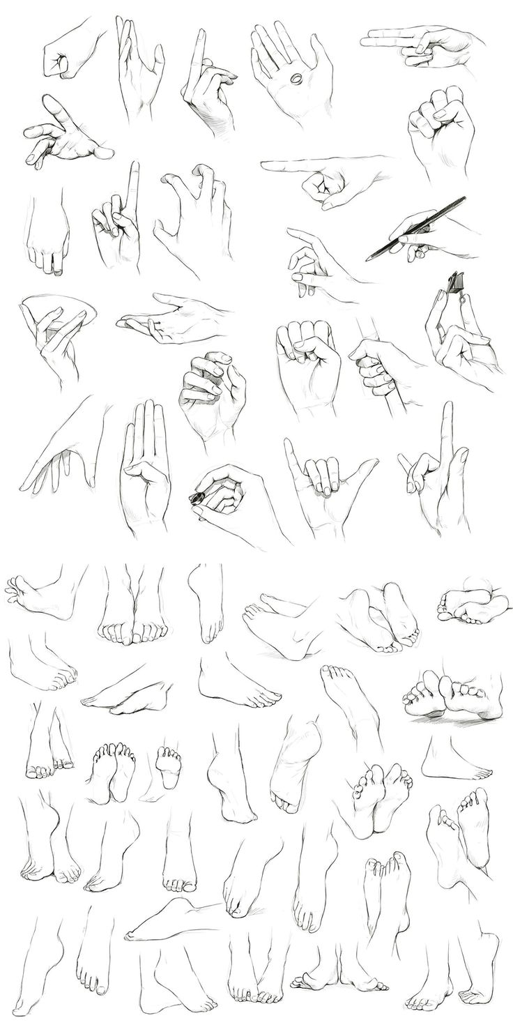 736x1483 Hands And Feet By On @ Character