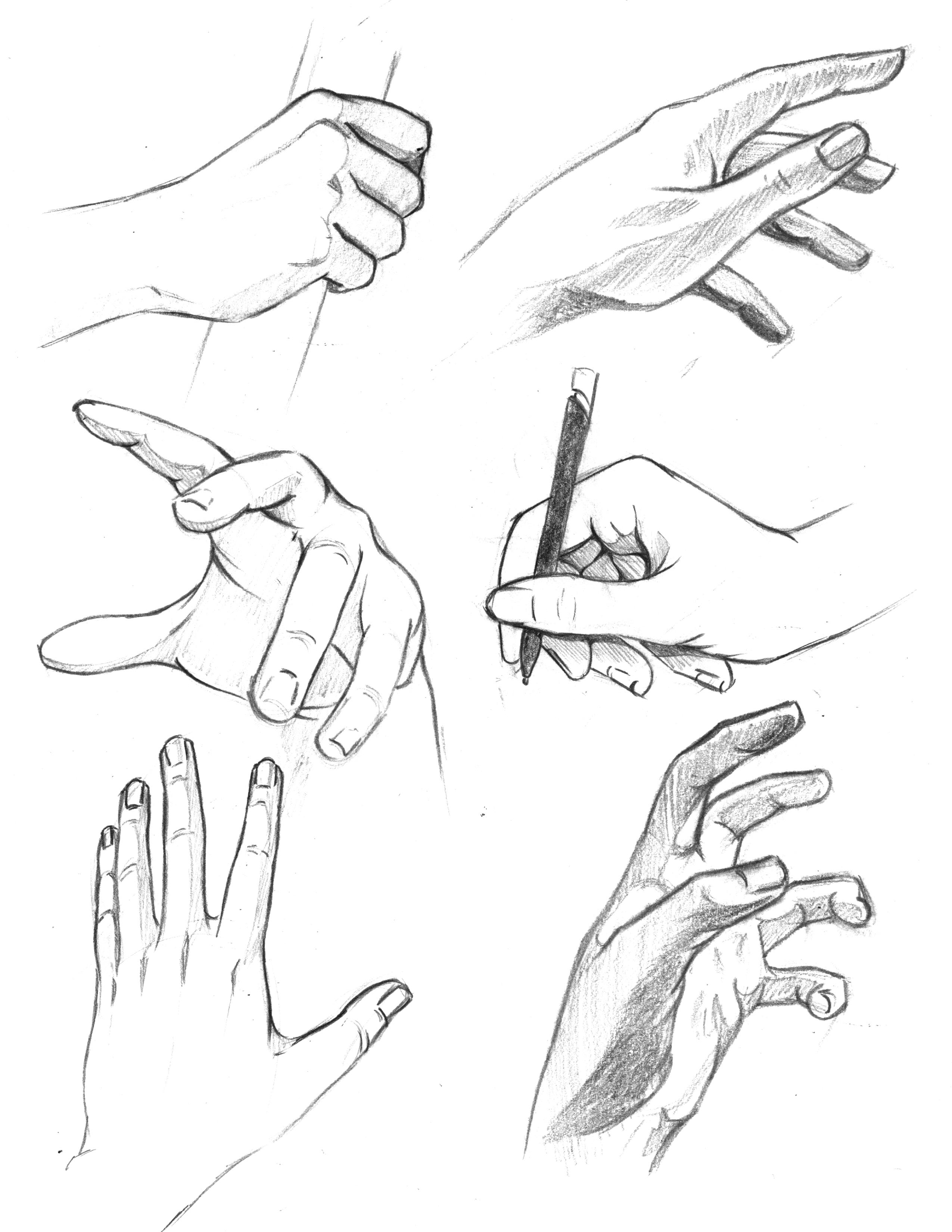 2550x3300 Drawn Hand Gesture Hand Sketch