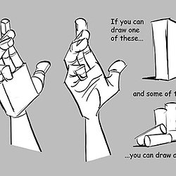 250x250 Hands For Drawing