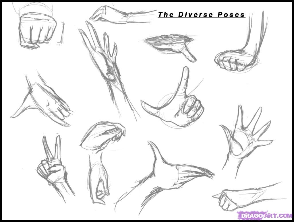 1024x774 How To Draw Anime Sketches How To Draw Anime Hands, Stepstep