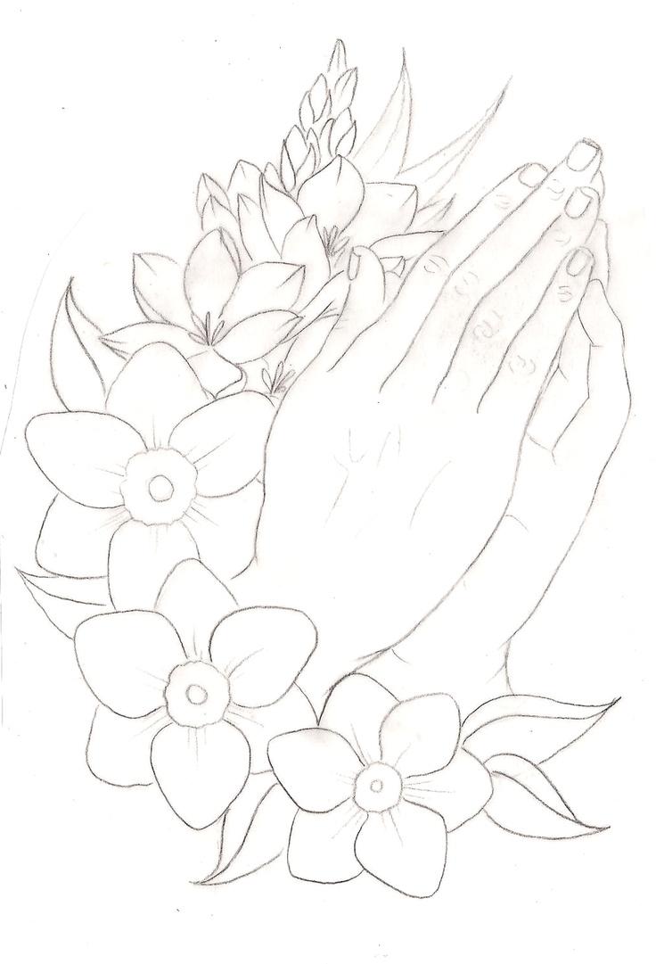 736x1081 Praying Hands Drawing Tutorial
