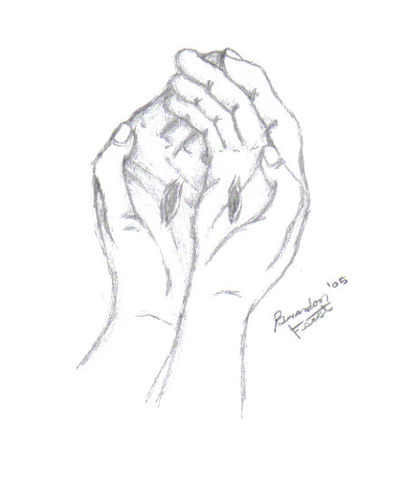 446x536 Jesus' Hands By Breathingnsequence