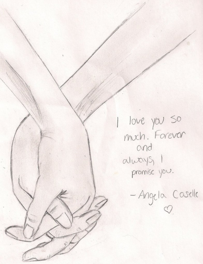 787x1024 Drawings For Couples Pictures Couples Holding Hands Drawing