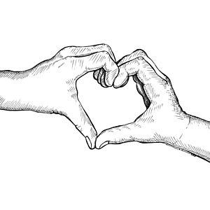 300x300 Hand Heart Drawings Fine Art America