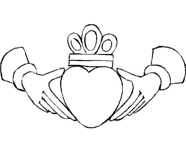 600x490 Crowned Heart In Hands Coloring Pages Best Place To Color