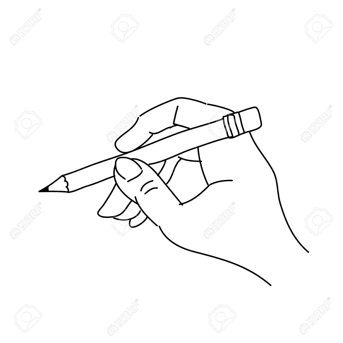 1300x1300 Drawings Of Hands Holding A Pencil Pencil Drawing Of Hand Holding